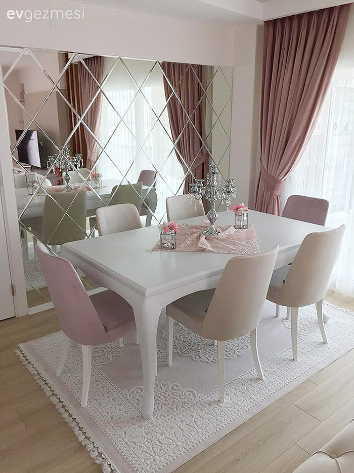 15 Dining Rooms With Large Mirrors On, Mirror For Dining Room Wall