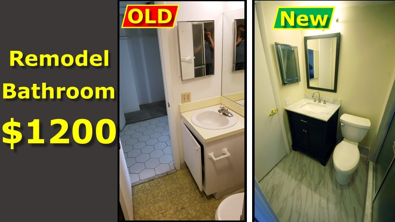 Remodel A Small Bathroom Yourself, How Much Does It Cost To Redo A Small Bathroom